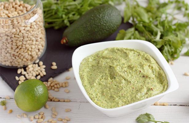 Green Pistachio Avocado Sauce | stayforabite.com