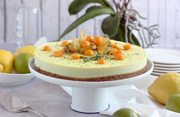 Citrus Avocado Cheesecake | stayforabite.com