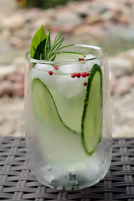 Cucumber Gin And Tonic Cocktail | stayforabite.com