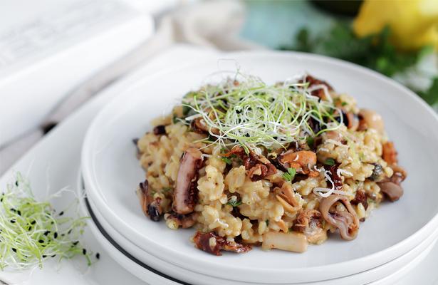 Seafood Risotto Bianco | stayforabite.com