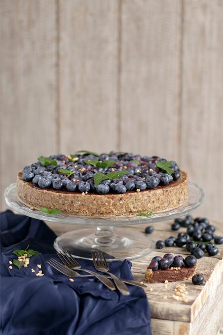 Blueberry Mint Chocolate Tart | stayforabite.com