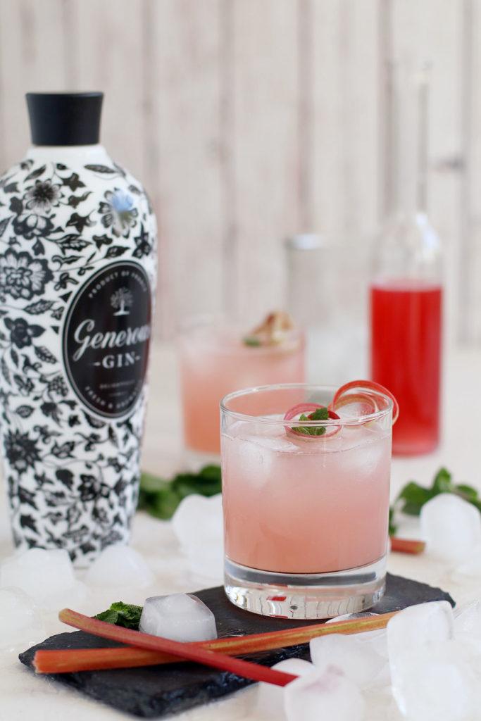 Rhubarb Syrup And Rhubarb Gin Cocktail | stayforabite.com