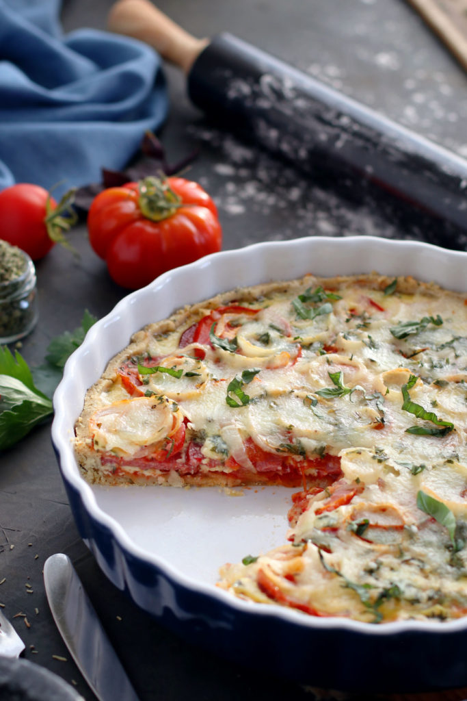 Gluten Free, Lactose Free Tomato Tart | stayforabite.com
