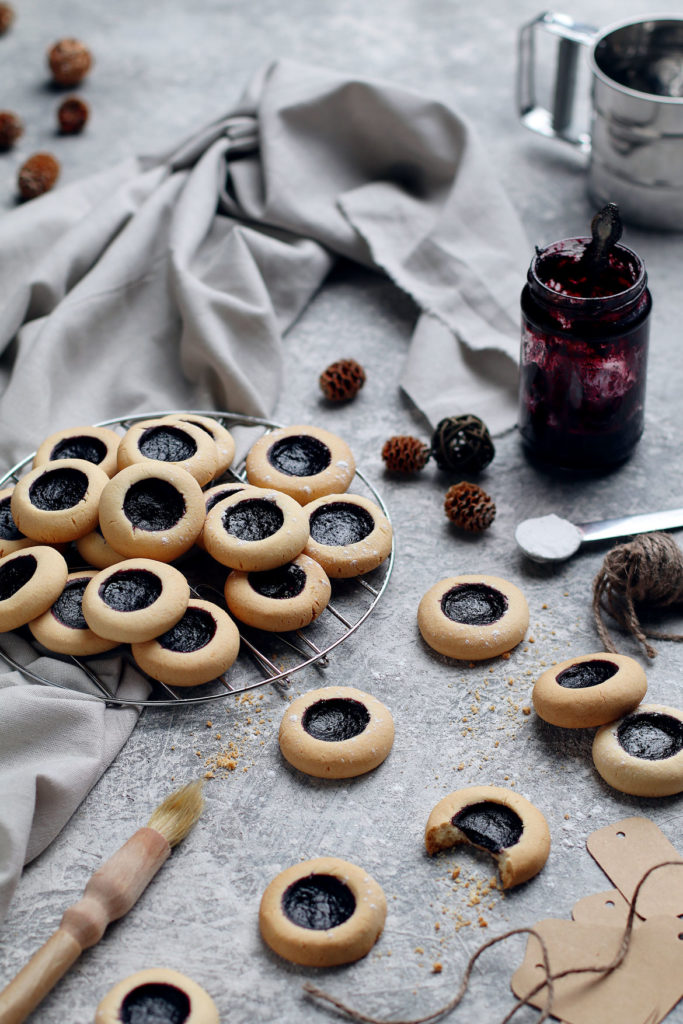 Gluten and lactose free thumbprint cookies | stayforabite.com