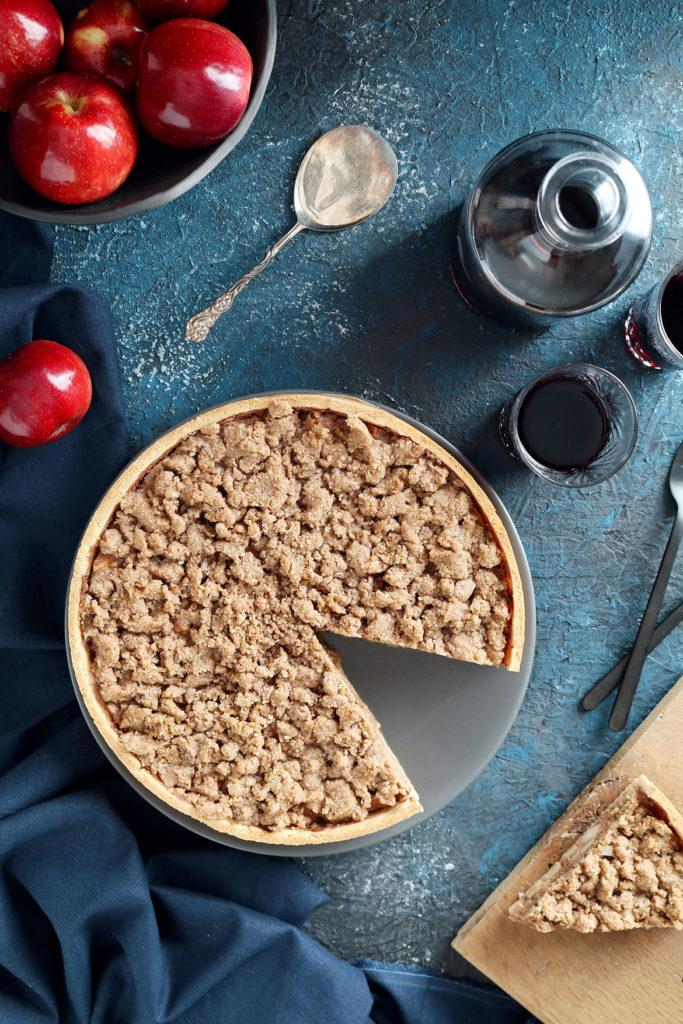 Gluten Free Apple Tart With Almond Crumbs   stayforabite.com
