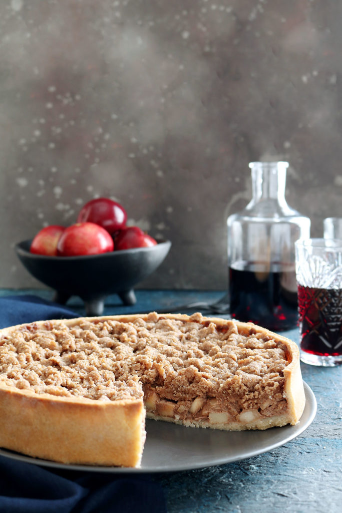 Gluten Free Apple Tart With Almond Crumbs | stayforabite.com